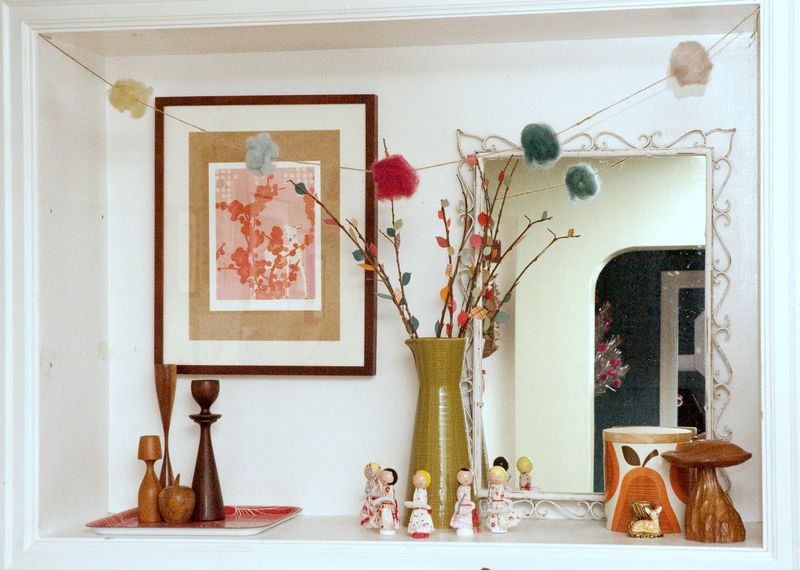 Cubby with pompom garland
